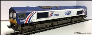 Bachmann / Rainbow railways Class 66 66780 CEMEX - Expertly Resprayed, Weathered & Renumbered